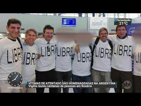 Familiares de vítimas argentinas chegam à Nova York | SBT Brasil (02/11/17)