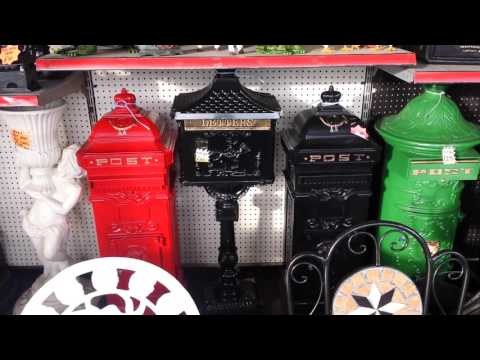 CAST IRON GARDEN FURNITURE POST BOXES LAMPS BENCH