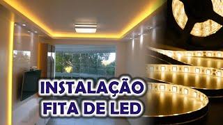 Fita de Led na Sanca - Sala de Estar - Iluminação com Luz Branco Quente e Branco Frio com instalar