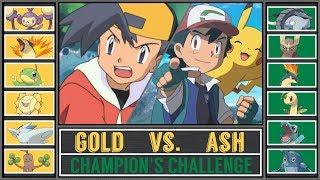 Ash vs. Gold (Pokémon Sun/Moon) - Champion's Challenge
