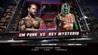 WWE 13 PS3 Gameplay - CM Punk VS Rey Mysterio [60FPS][FullHD]