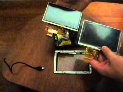 Видео обзор как заменить дисплей (экран) на навигаторе