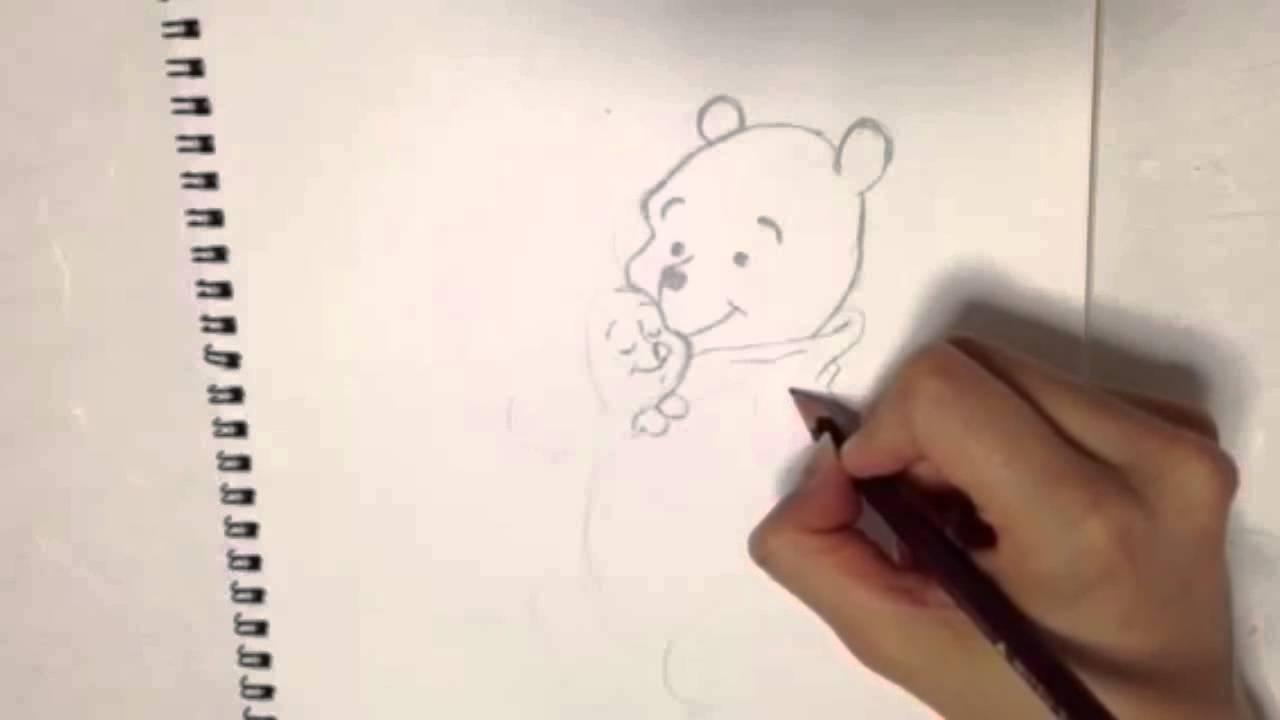 ディズニー★くまのプーさんを描いてみた disny Draw a Winnie the Pooh