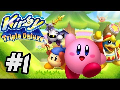 Kirby's Triple Deluxe Walkthough Part 1 Hypernova Kirby