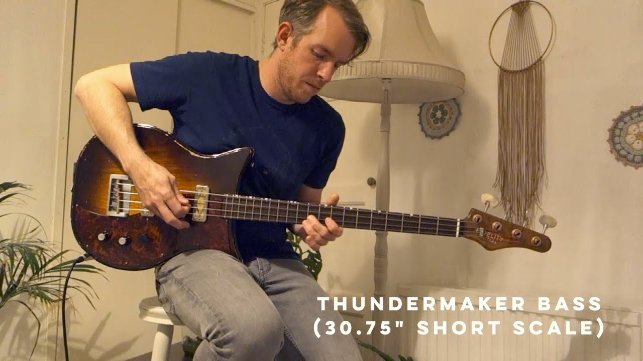 Fidelity Guitars - short scale Thundermaker bass demo