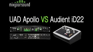Download UAD Apollo 8 Duo VS Audient iD22 MP3 song and Music Video