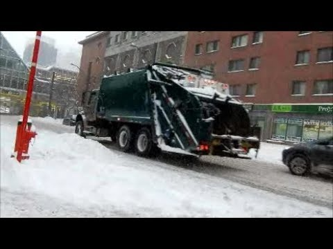 LOCAL TRUCKING IN MONTREAL SNOWSTORM 12-12-17
