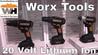 #WorxTools 20 Volt Drivers Drills Battery Hand Tools | Weekend Handyman