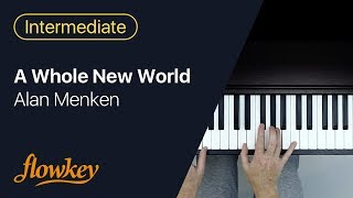 A Whole New World – Alan Menken (Easy Piano Tutorial)
