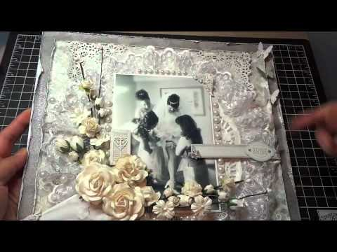 12x12 Wedding Scrapbook Layout Another I Am Roses challenge  YouTube