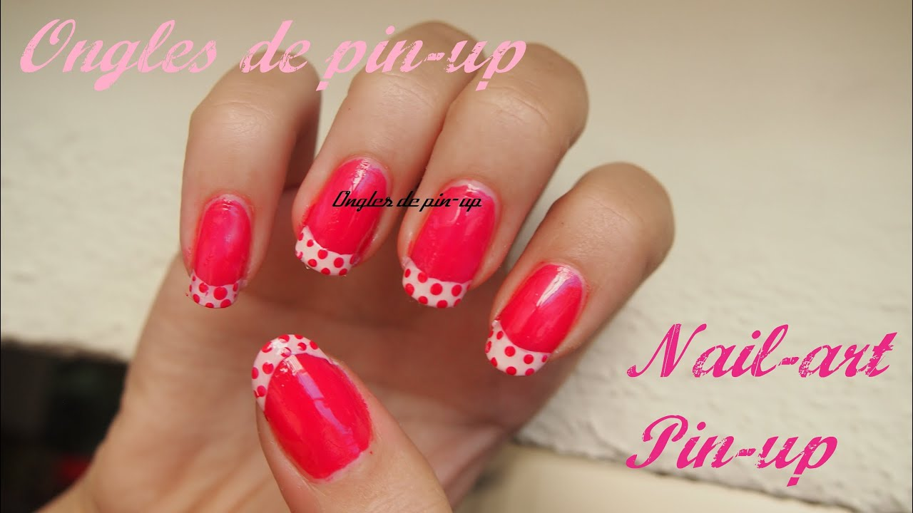Nail art pour debutant rose avec points nail art for beginners pink with dots youtube - Nail art debutant ...