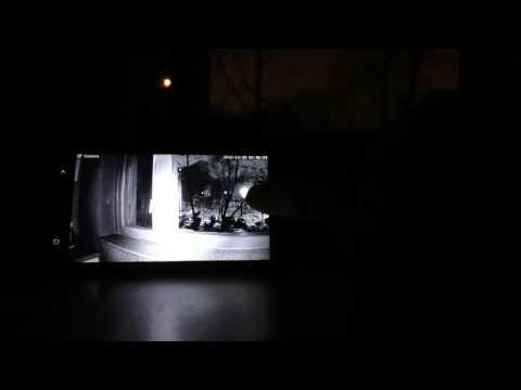 Демонстрация режима ночного видения (видеонаблюдения). Камера EasyN Mini 10D