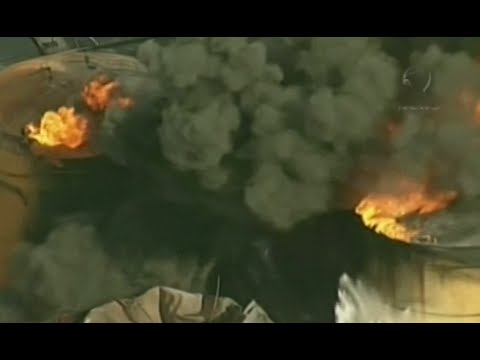 Fuel tanks ablaze for 6th day in Port of Santos, Brazil