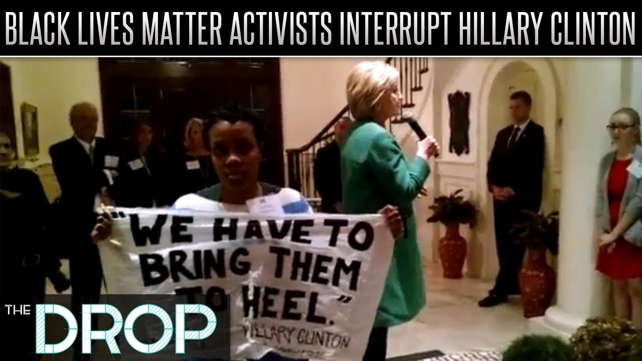 Hillary Clinton Cut Short By Black Lives Matter Activist