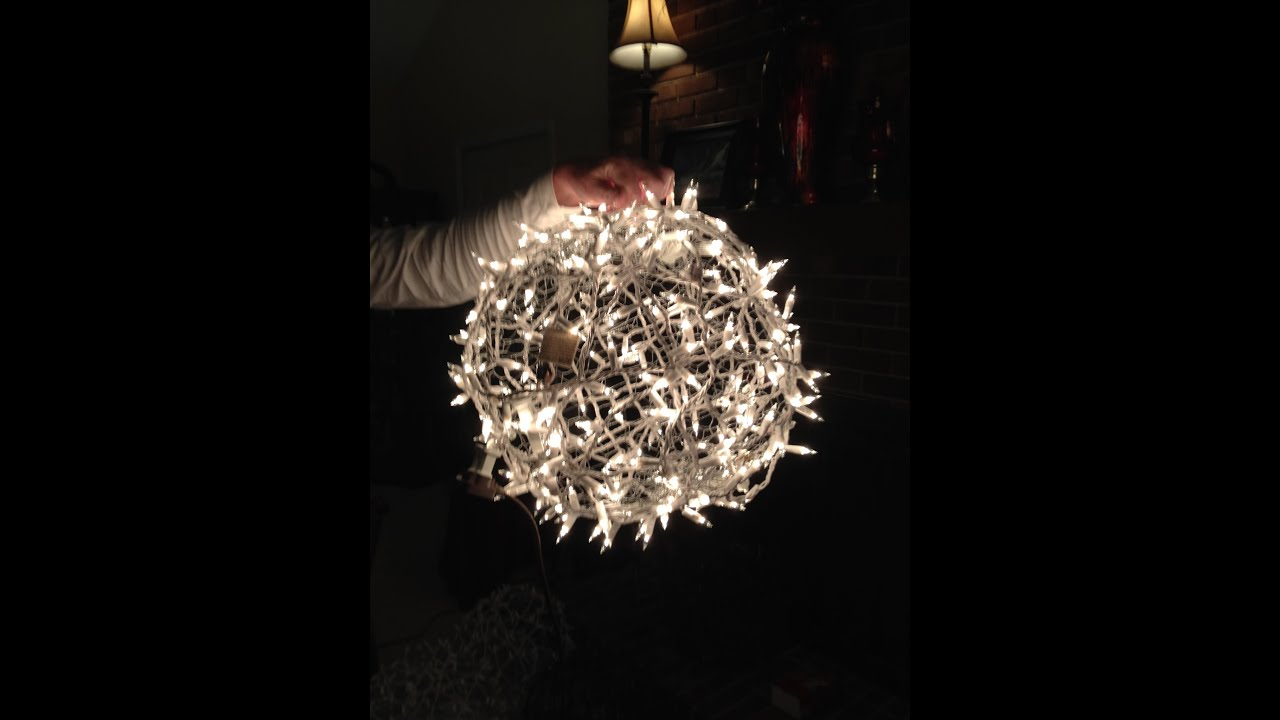 Giant Lighted Christmas Balls   How To Hang Them On A Tree   YouTube
