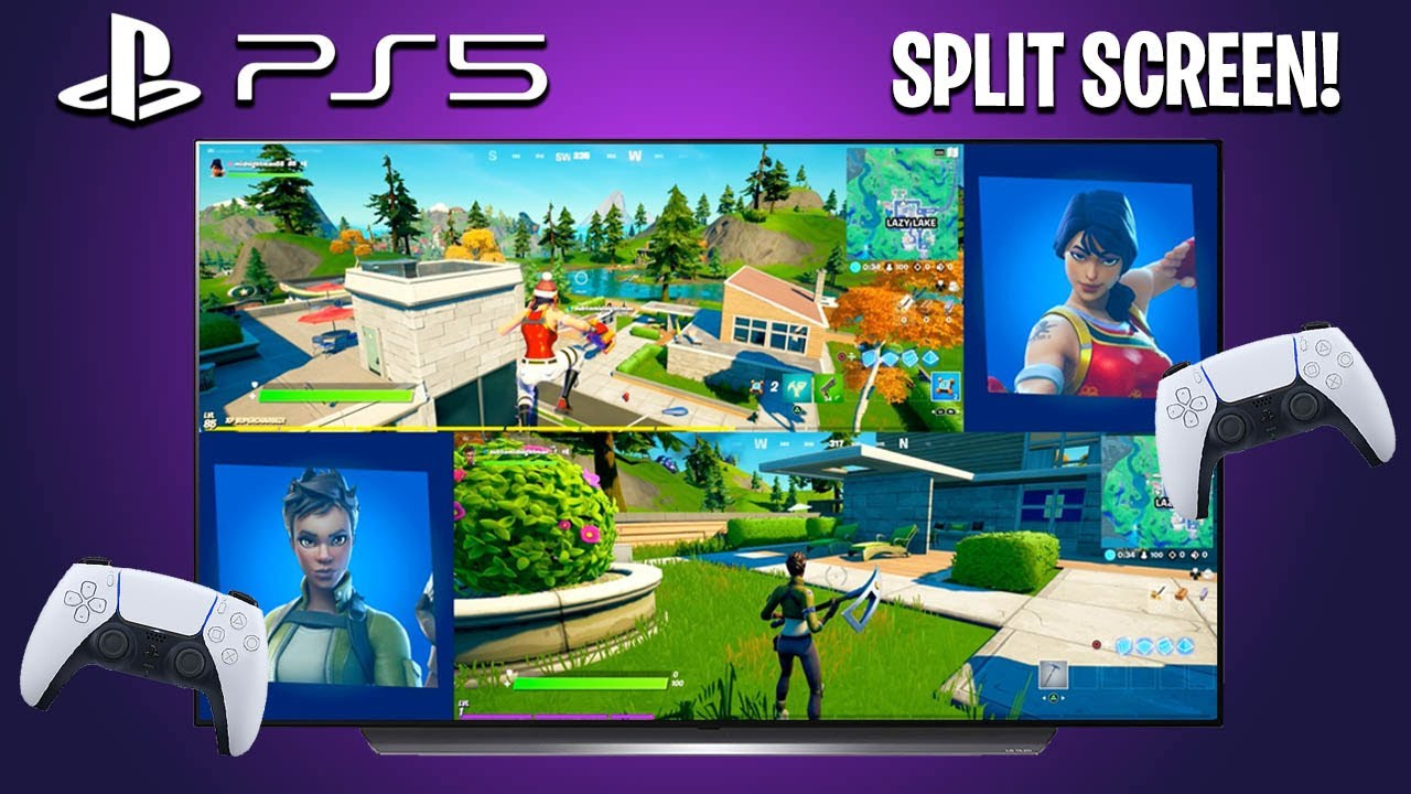 Can You Play Split Screen On Fortnite Ps4 2021 How To Split Screen In Fortnite On Ps5 New Easy Method Youtube