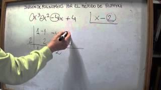 MAT 3º E.S.O: Cómo dividir polinomios entre binomios (x-a) por el método de Ruffini (2)
