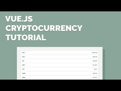Vue.js CryptoCurrency Tutorial - Display Exchange Data with an API