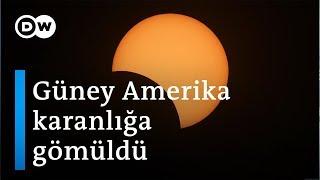 Şili ve Arjantin'de güneş tutulması gözlendi - DW Türkçe