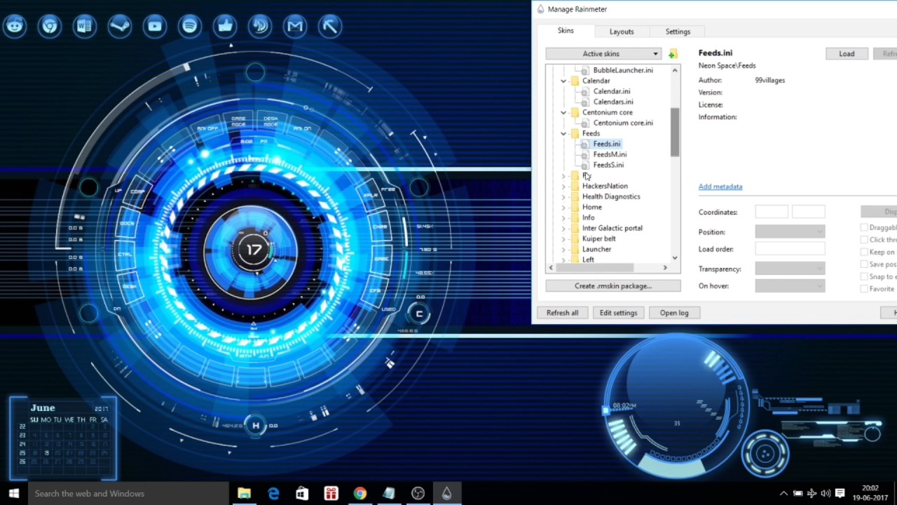 Customize Desktop Windows 10 Using Rainmeter – Fondos de Pantalla
