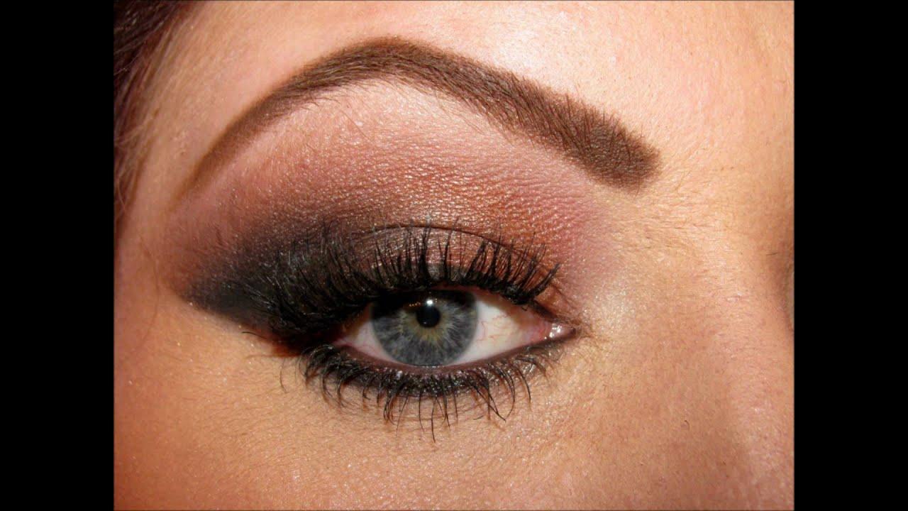 Black/brown winged eyeshadow tutorial - YouTube