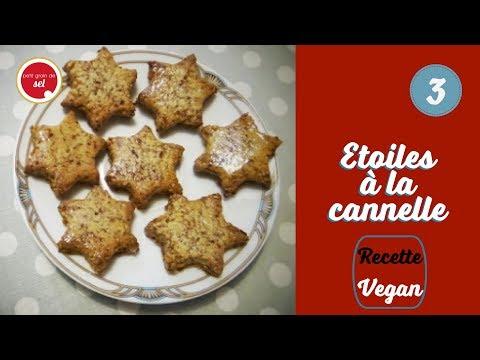 {Petit grain de Noël} - Recette vegan - 3. Etoiles à la cannelle