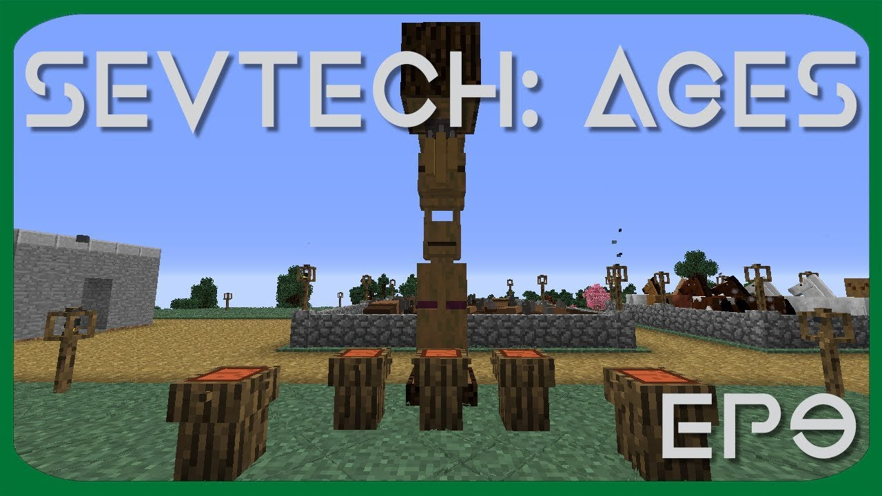 We do a buffalo dance and make a totem pole   SevTech:Ages