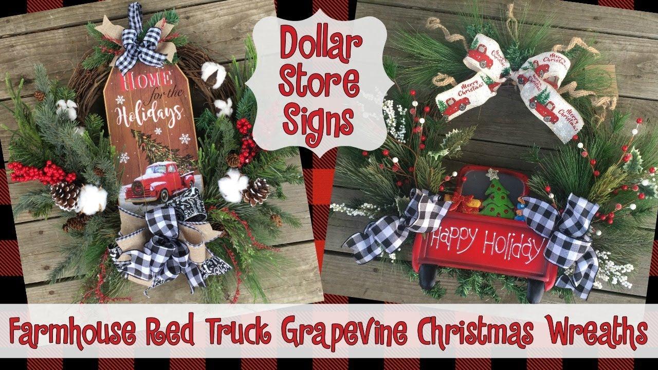 Farmhousechristmas Dollarcrafts Christmaswreaths