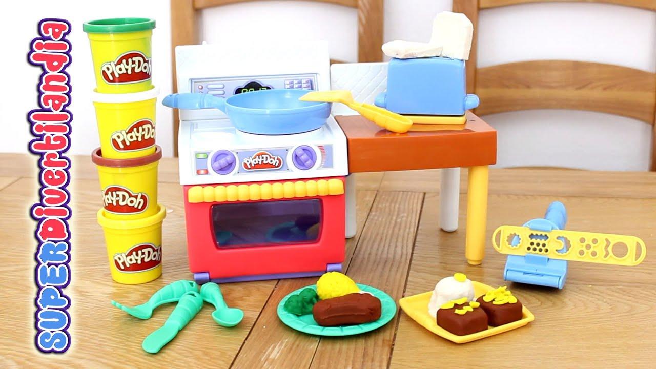Cocinando con cocina play doh cooking with play doh kitchen youtube - Cocina play doh ...