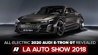 First look at the 2020 audi e-tron gt - audi's line of electrified vehicles gains a new member with los angeles debut concept, slated fo...