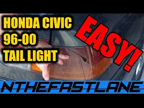 ▶️Tail Light: How To Replace (Honda Civic 96-00)🔧