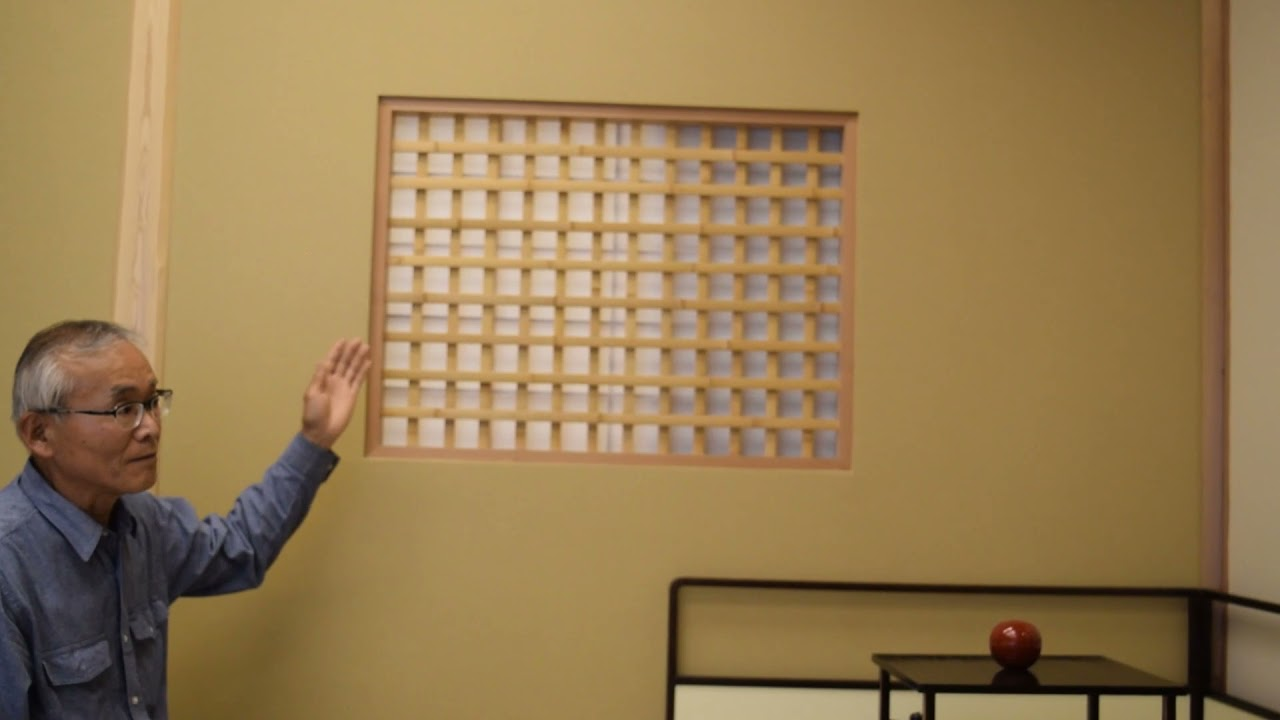 事務所を改装した茶室