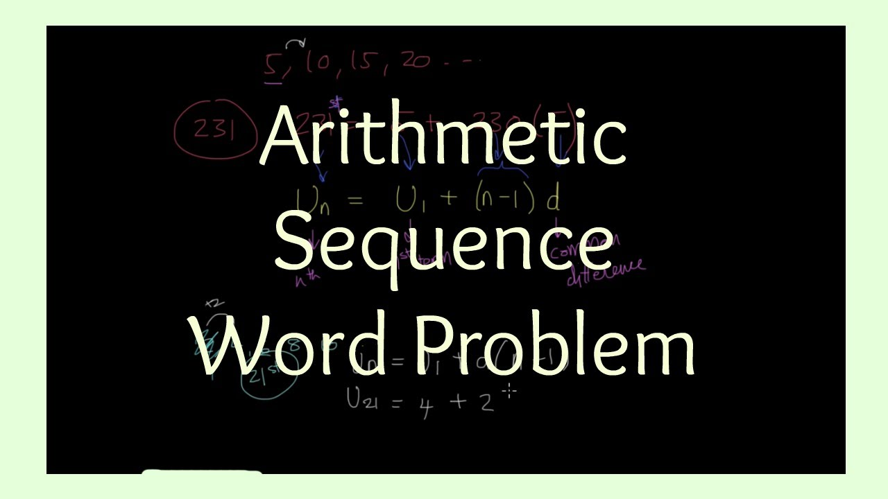 Arithmetic Sequences Word Problem Youtube