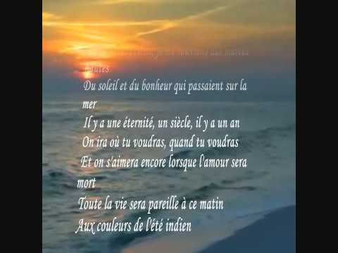 L ete indien Joe Dassin lyrics