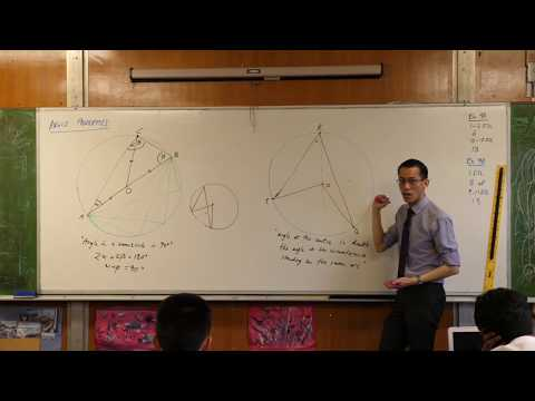 Angle Properties - Circle Geometry (Angle at the centre/circumference)