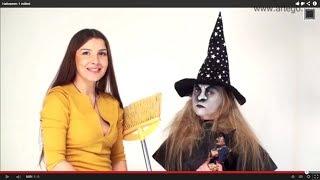 Макияж на Хеллоуин  (Halloween make up). Ведьмочка.