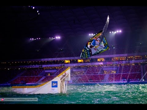 Warsaw PWA Indoor World Cup 2014 - Friday night, last Jump session