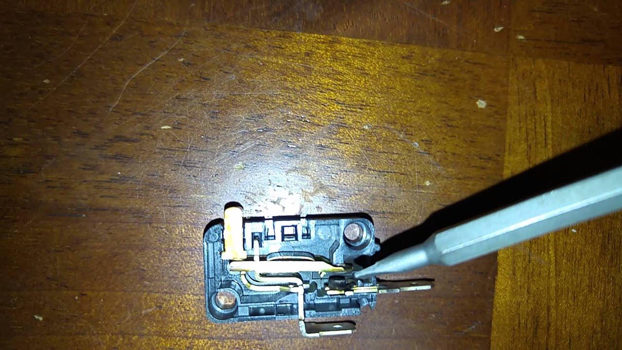 & Microwave running when door open quick fix - YouTube