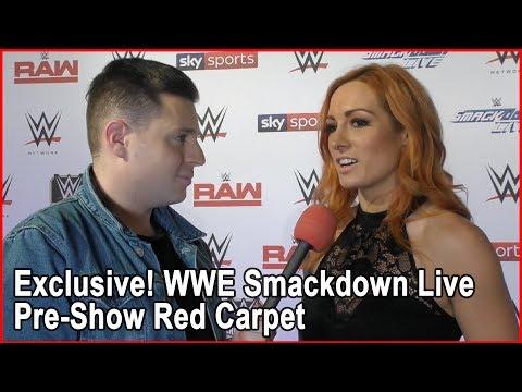 EXCLUSIVE! | WWE Smackdown Live Pre-Show Red Carpet | Bang Showbiz