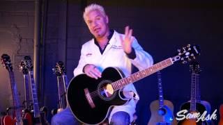 epiphone pr 5e acoustic electric guitar at sam ash music