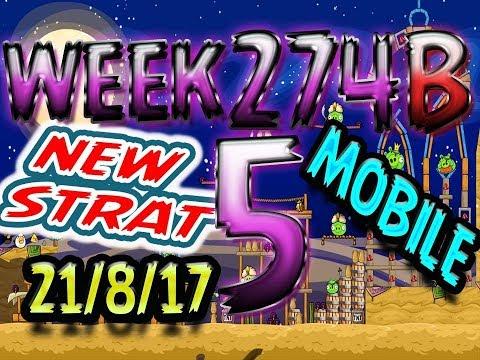 Angry Birds Friends Tournament Level 5 Week 274-B NEW STRAT Highscore POWER-UP walkthrough