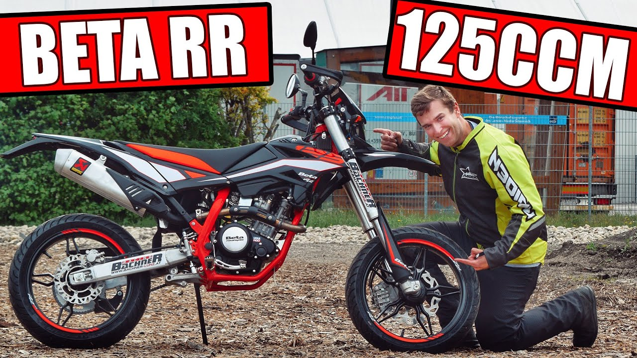 beta rr 125 lc supermoto 2019 motorrad test youtube