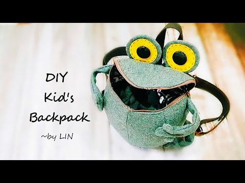 diy-kid's-backpack-tutorial-‖-toddler-frog-backpack-sewing-project-~reuse-old-cloth-#handymum