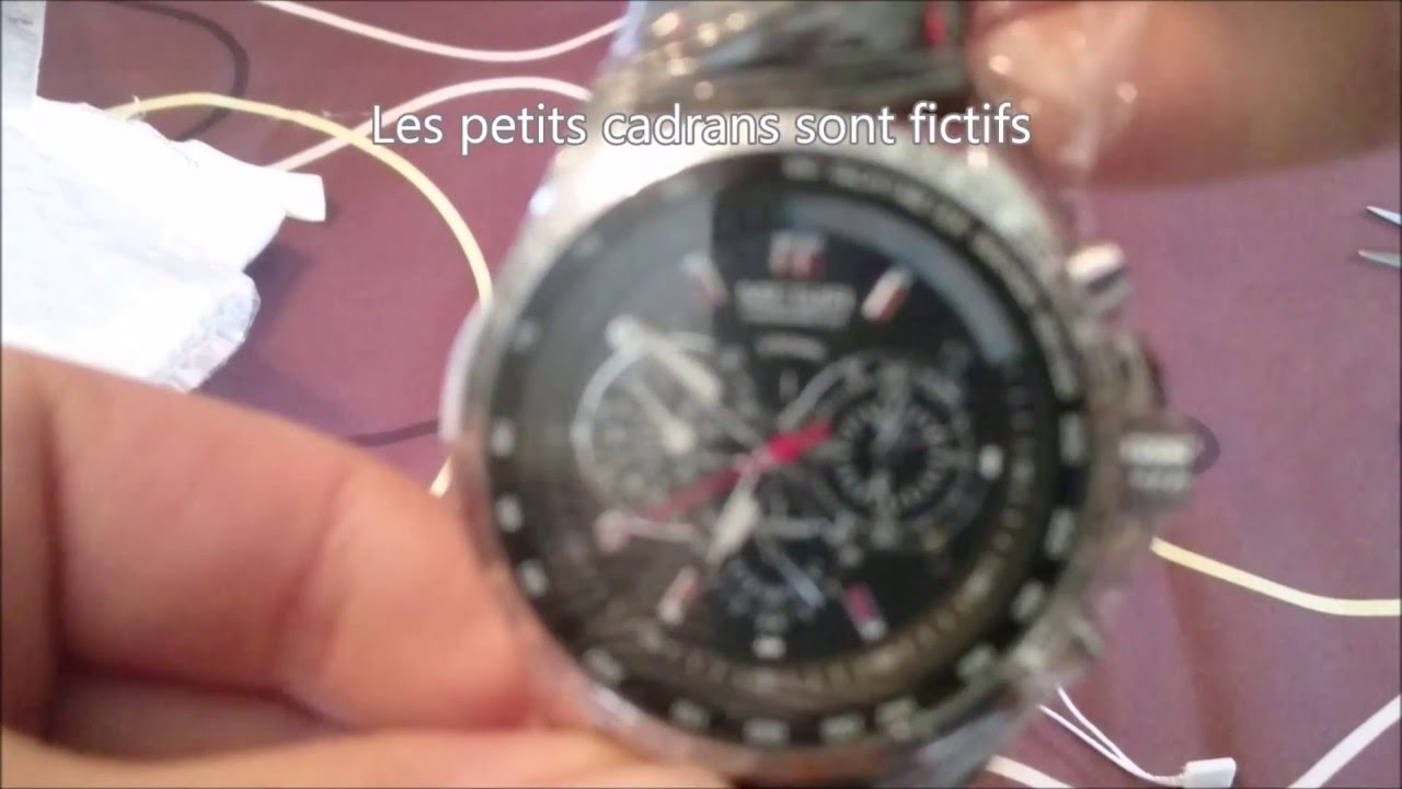 Populaire Haul 2016 #Aliexpress TEST AVIS #7 : Montre MEGIR homme. - YouTube CJ27