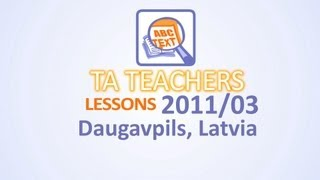 TA Lessons I English I 13-14 I Grammar I Applying Models