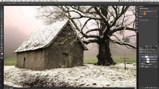 Photoshop tutorial from summer to winter video(Простой и наглядный урок на русском языке от Говарда Пински, в котором он превратит летнюю фотографию в..., 2013-09-30T07:17:40.000Z)