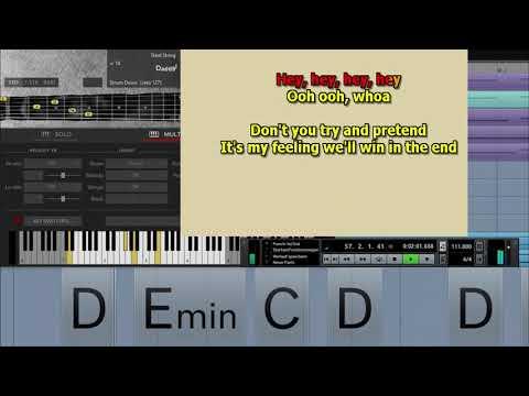 Dont you forget about me Simple Minds best karaoke instrumental lyrics chords