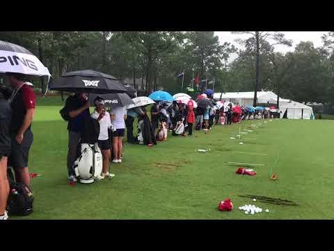 2018 Megan Khang LPGA Women's US OPEN Practice Round Rain Delay