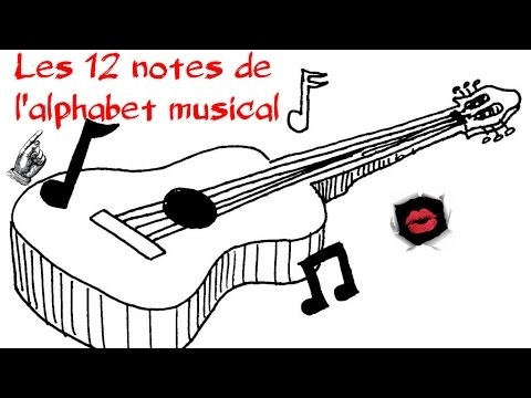 Les 12 notes de l'alphabet musical