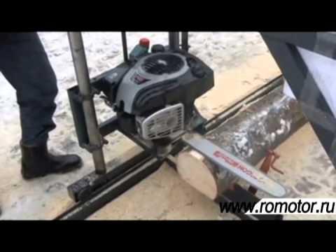 китайская вертикальная ленточная пилорама - YouTube